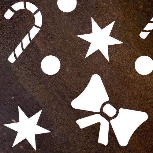 Détails des découpes du Sapin de Noël artificiel en Corten