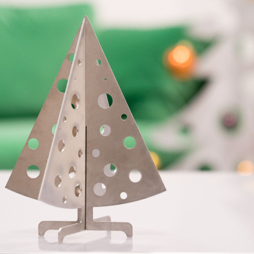 Décoration de Noël Sapin de table en inox