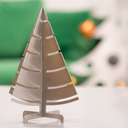 Décoration Sapin de Noël de table en inox