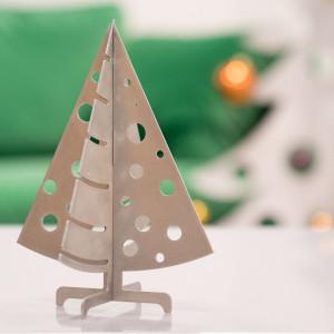 Décoration de Noël Sapin de table en métal