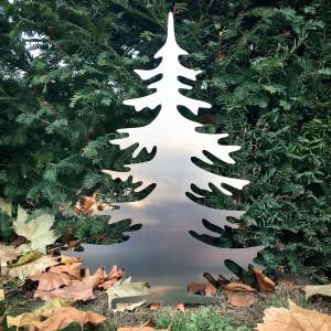 Arbre de Noël artificiel en aluminium en extérieur