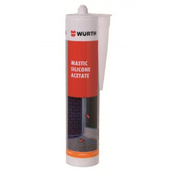 Silicone acetate sealant, aluminium-colored