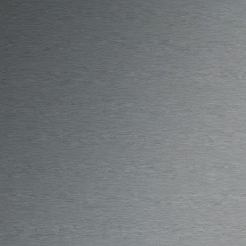 Plaque d'inox brossé et protégé par un film