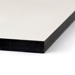 découpe sur mesure panneau stratifié compact blanc âme blanche 10mm