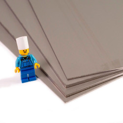 Plaque d'inox 304L brut brillant et protégé par un film