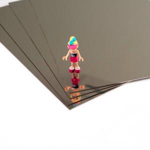 Plaque d'inox 304 miroir protégée par un film