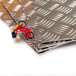 Plaque aluminium larmé brut antidérapant 55754H111
