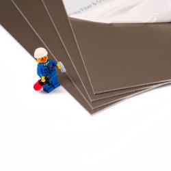 Plaque d'aluminium anodisé brossé anti-traces pour bricolage et rénovation