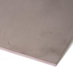 Plaque d'inox 304L brut filmé