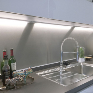 Customized stainless steel kitchen splashback kit