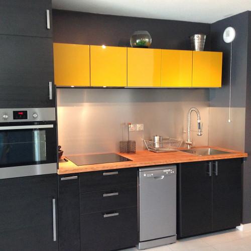 Anti-Spuren Aluminium Küchenrückwände nach mass