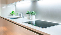 metal splashback