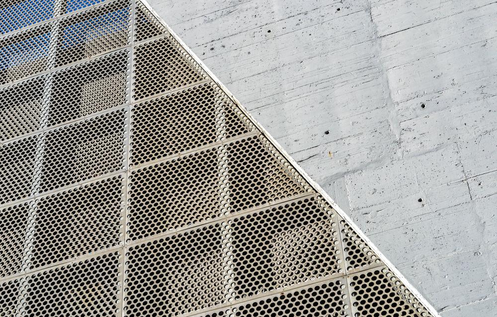 façades perforées en aluminium