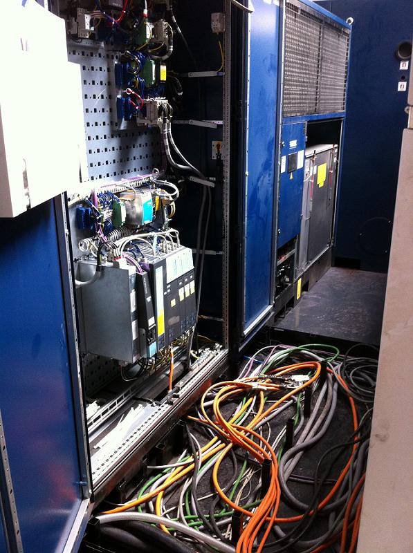 Branchements électriques en cours