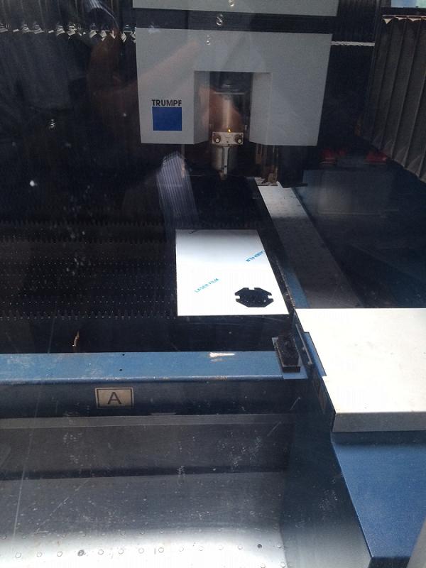 Test de découpe au laser