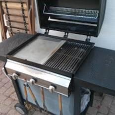 Barbecue mixte plancha en inox sur mesure