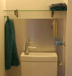 Credence en aluminium anti-traces Salle de bain