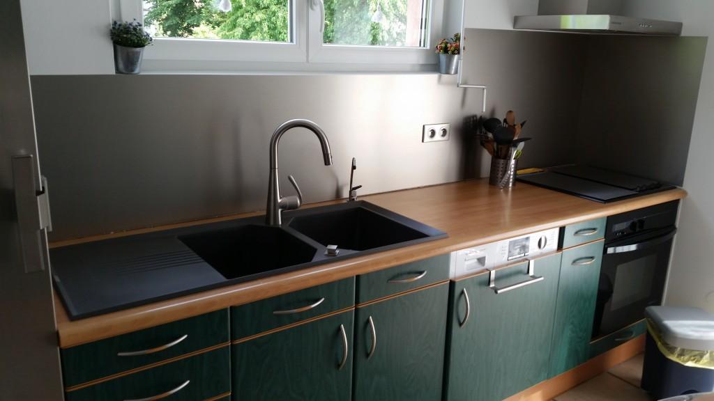 Crédence de cuisine en aluminium anti-trace