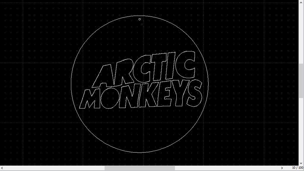 Image en DXF du logo Arctic Monkeys