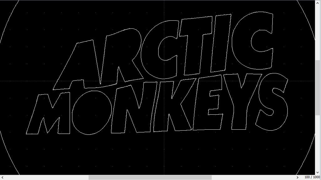 Correction du logo Arctic Monkeys vectorisé