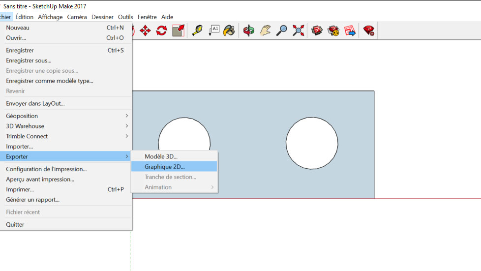 export fichier dxf depuis sketchup