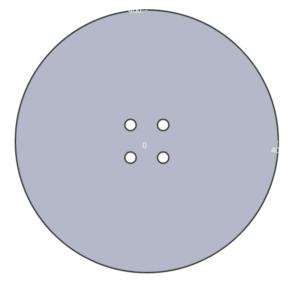 schéma d'une plaque d'égout dans le configurateur de plaques de métal sur mesure John Steel