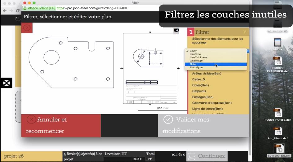 Utiliser l'éditeur de plan : filtrer les couches inutiles