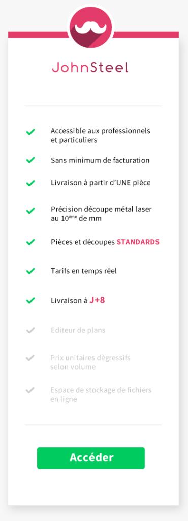 Outil de configuration de plaques de métal sur mesure