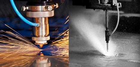 Choisir entre la découpe laser ou la découpe jet d'eau pour votre projet métal