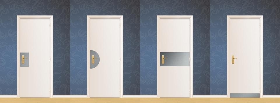 Différents types de protection de porte sur mesure en métal