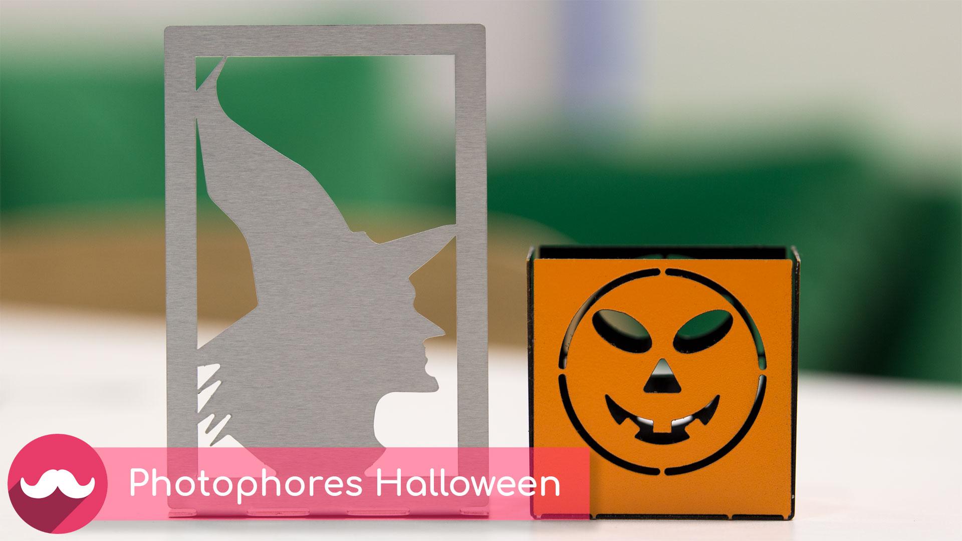 photophores en métal pour halloween