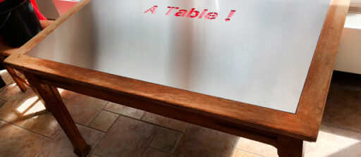 Réalisation d'un dessus de table en inox