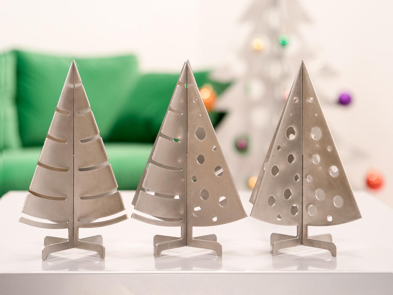 trois-modeles-sapins-de--table-inox-brossé-304L