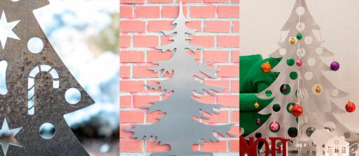 4 idées de sapin de Noël en métal