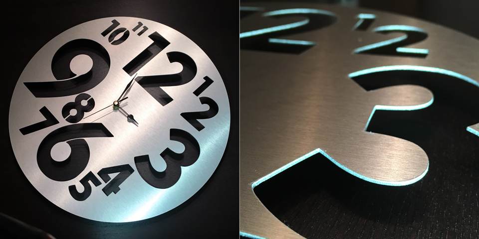 Horloge design anti-traces en aluminium