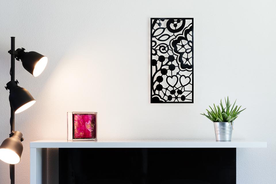 Tableau décoratif en acier peint