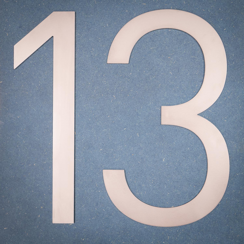 Numéro de maison en inox