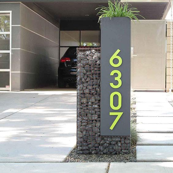 numéro de maison en métal géant