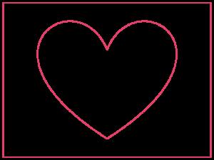 réaliser un pochoir en forme de coeur