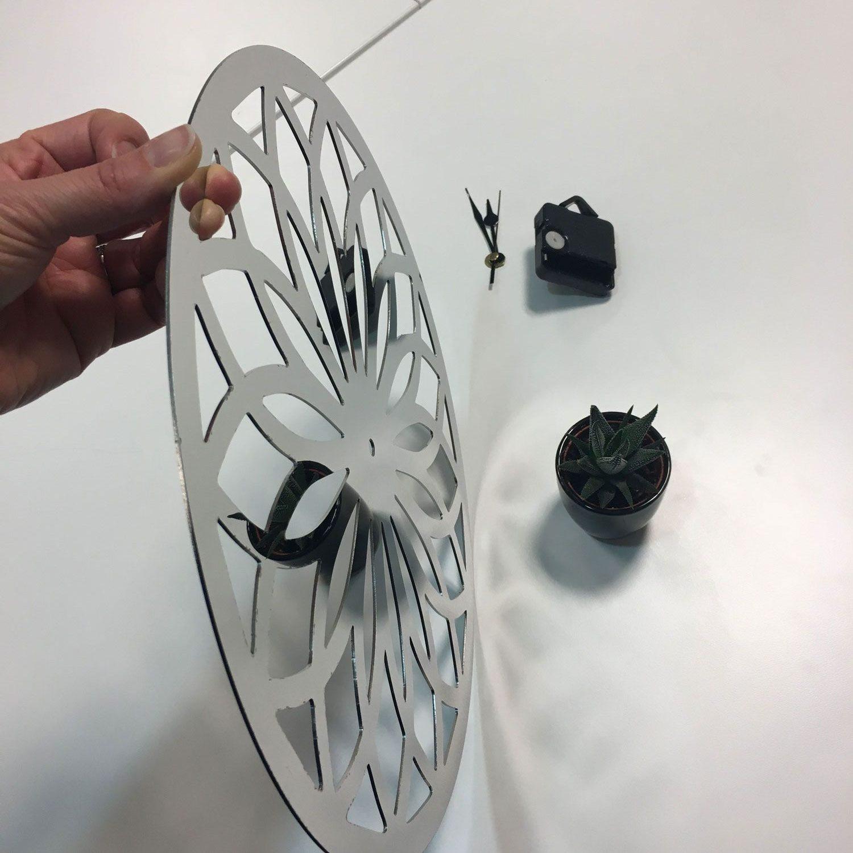 Accessoires horloge miroir inox