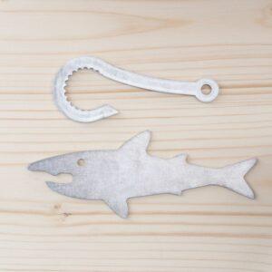 Décapsuleur requin en métal