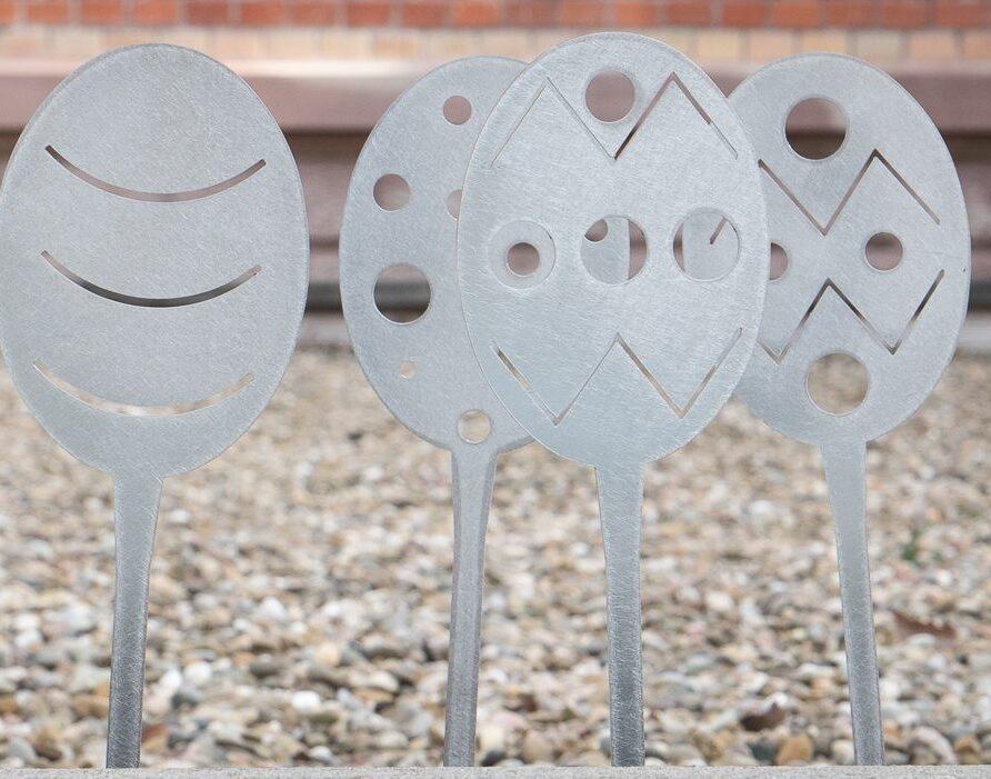 Décorations de Pâques en acier galvanisé