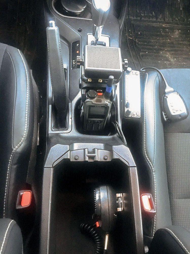installation du talkie-walkie dans la voiture