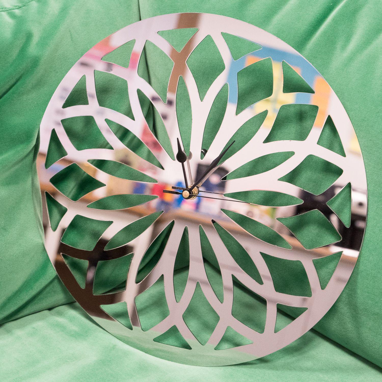 Miroir inox pour une horloge sur-mesure