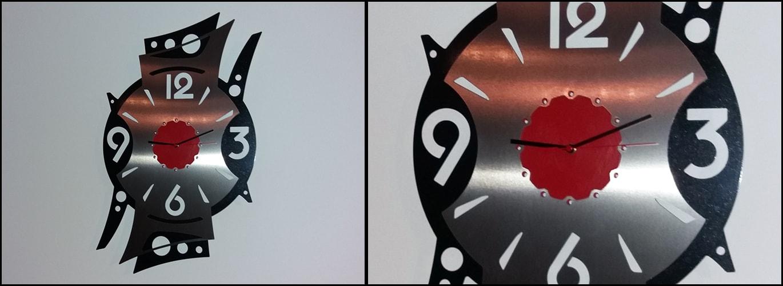 Horloge sur mesure réalisée à partir d'un DXF