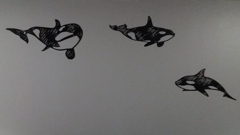 Tableaux décoratifs d'orques en aluminium peint