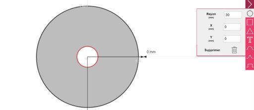 Comment faire un trou au milieu d'une pièce circulaire