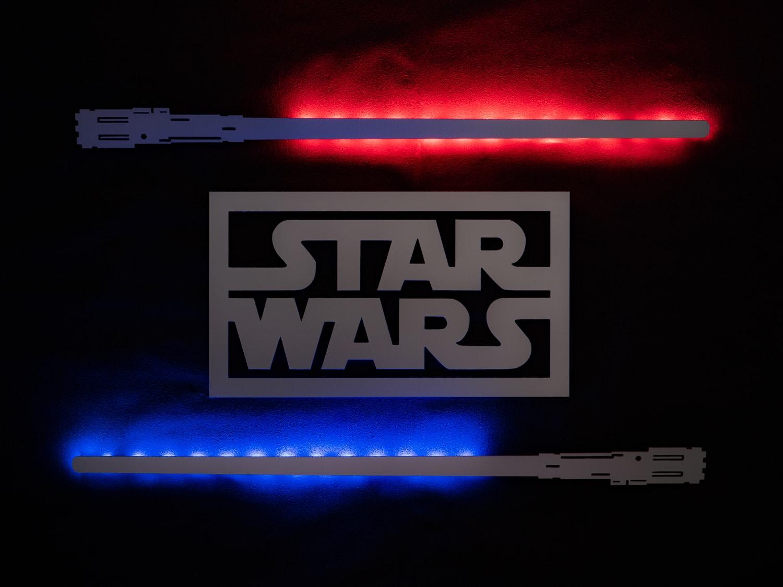 Tableau décoratif Star Wars en aluminium