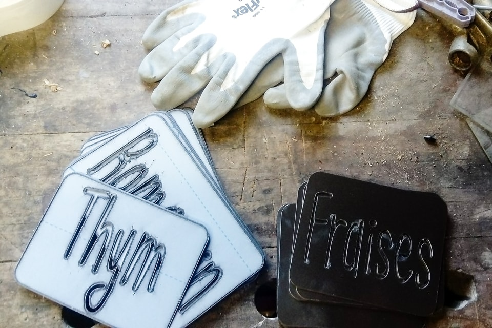 Étiquettes de potager en aluminium