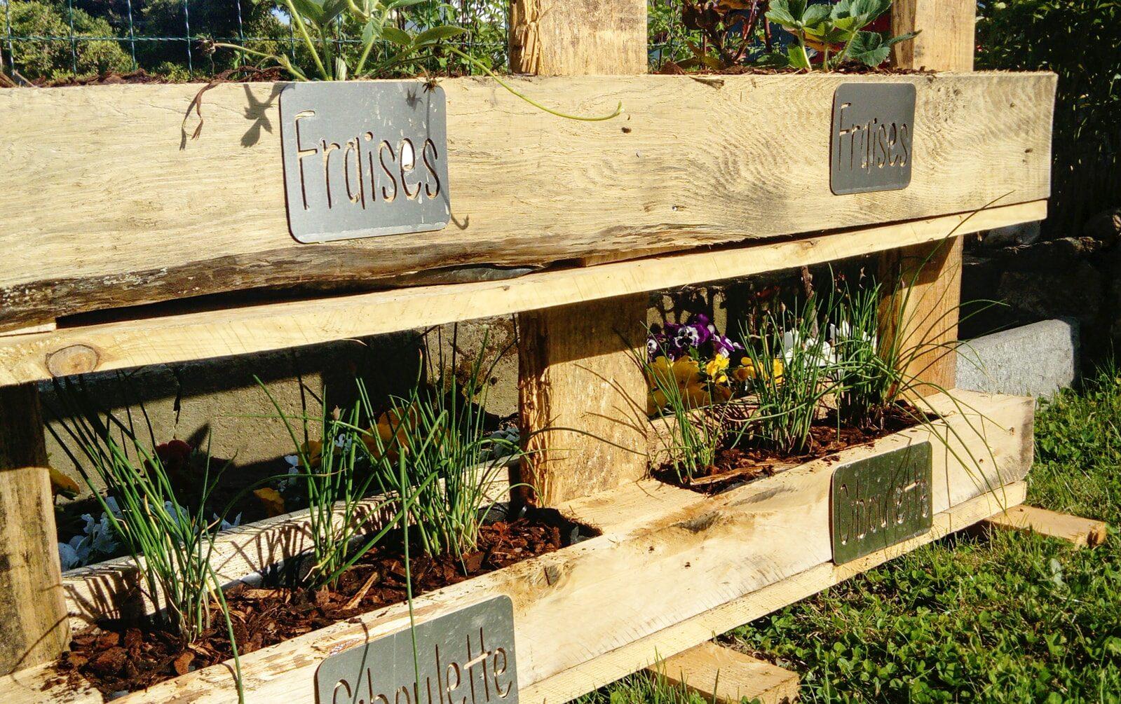 Étiquettes en métal pour jardinière